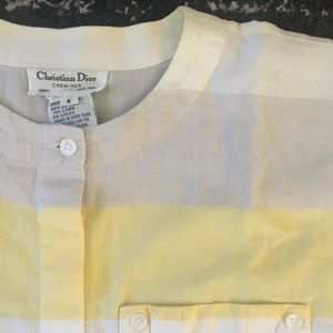 Light vintage Christian Dior button-down shirt